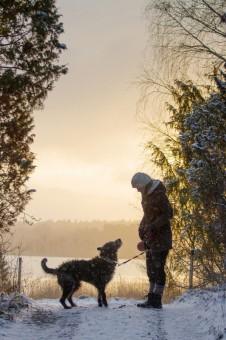 Veli-Matti Suhonen. PIcardi Via ja Hanna Aarrekorpi.Tämä kuva on talvikuvakisan voittaja!